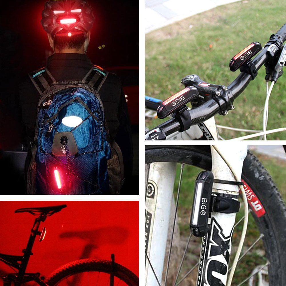BIGO USB Rechargeable Bicycle Tail Light